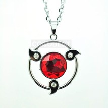 Naruto Sharingan Modelling Ruby Pendant Necklace Anime Accessories - $7.25