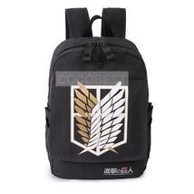 Attack on Titan Scout Legion black backpack Schoolbag Anime Backpack - $22.52
