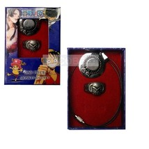 One Piece Ace's hat Pendant Necklace and Ring set cosplay Accessories - $9.73