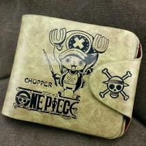 One Piece Chopper Pattern Leather Wallet Khaki Wallet Anime purse - $10.87