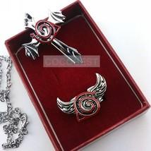Naruto Konoha Pendant Necklace and Ring set  Cosplay Accessory - $9.83