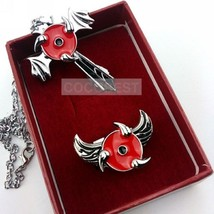 Naruto sharingan Pendant Necklace and Ring set Cosplay Accessory - $8.96