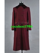 Who is Doctor 4th Doctor Plum Red Long Trench Wool Coat Costume any size - $82.44