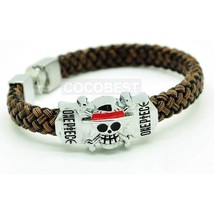 One Piece Luffy Logo second generation Bracelet Punk style Cosplay Accessory - $11.19