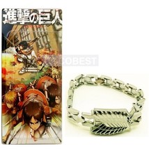 Attack on Titan Scout Legion Metal bracelet Cosplay Accessory - $6.63