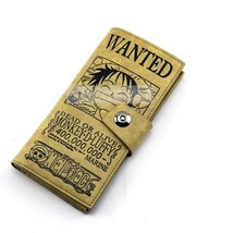 One Piece Luffy Wanted Circular Wallet Anime purse - $12.29