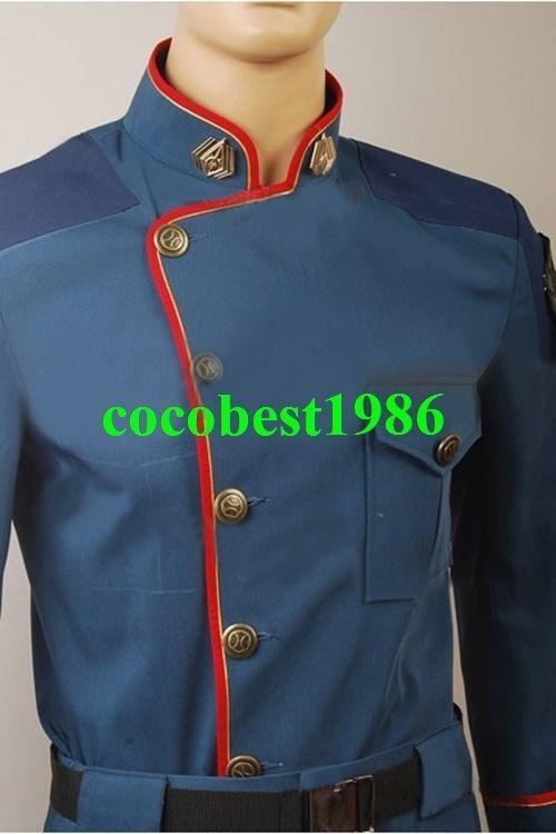 Battlestar Galactica William Adama Jacket Pants Uniform Costume any size