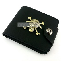 One Piece The straw hat Pirates Logo Leather Wallet Anime Purse - $12.75