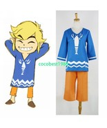 Link Costume from The Legend of Zelda The Wind Waker top and pants Any size - $52.24