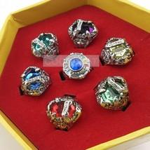Hitman Reborn 10th Sawada Tsunayoshi 2nd Crystal Ring Set small code 7PCS/set - $11.35