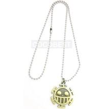One Piece Trafalgar Law Logo Necklace Anime Necklace - $6.35