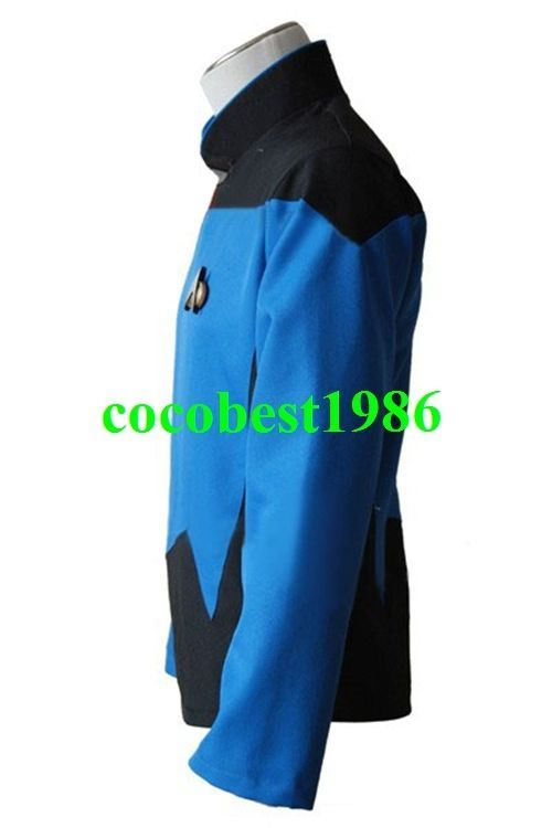 Star Trek TNG The Next Generation Teal Shirt Uniform Costume any size