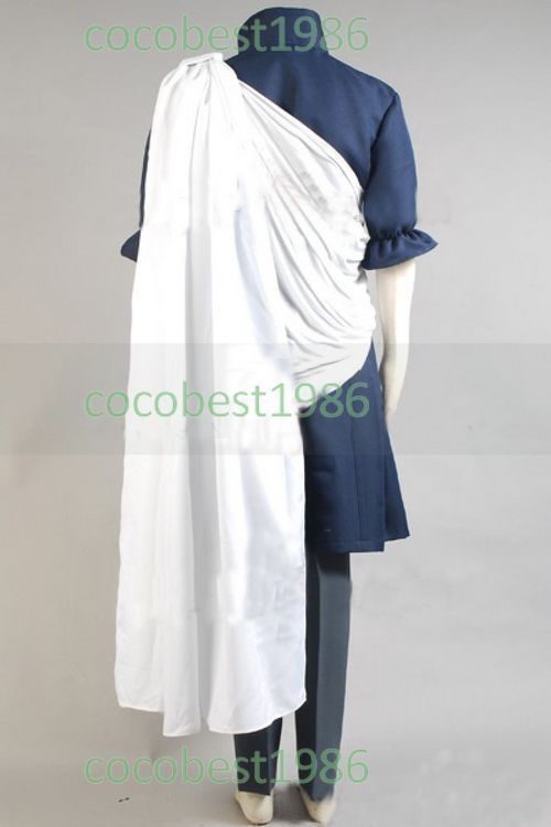 Fairy Tail Zeref Cosplay Costume shirt scarf coat pants Any size