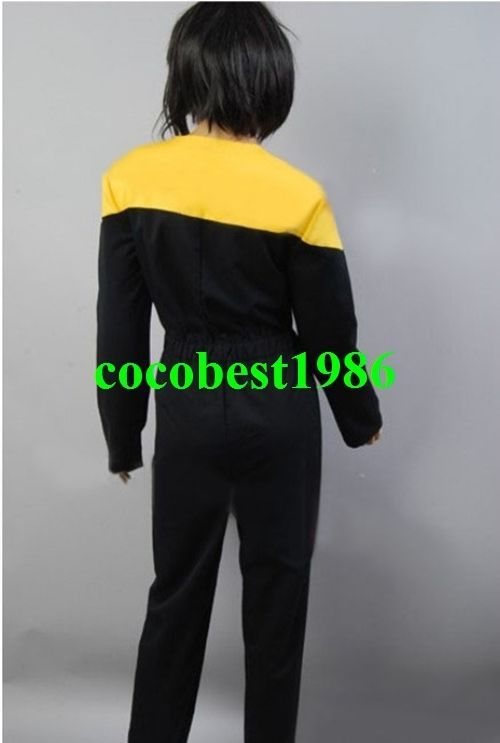 Star Trek Voyager Jumpsuit Yellow Gold Uniform Costume any size Top pants
