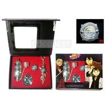 Hitman Reborn Sawada Tsunayoshi Ring+Finger-cot+Yamamoto Takeshi+Reborn Brooch 2 - $12.90