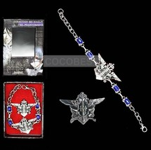 Black Butler Eagle Bracelet and Brooch set Cosplay Accessory - $6.14
