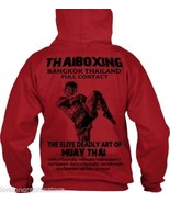 Details about  muay thai sweat shirt hoodie  full zip  thaiboxing  ufc mma thumbtall