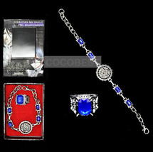 Black Butler Seal Logo Contract Bracelet and Ring set Cosplay Accessories - $6.75