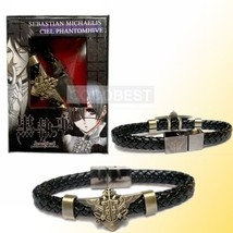 Black Butler Eagle Logo Punk Style Bracelet band Cosplay Accessories - $6.22