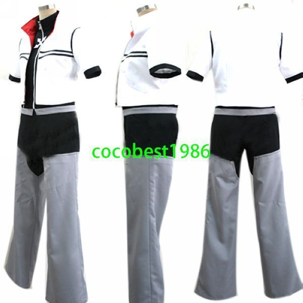 Kingdom Hearts 2 Roxas Cosplay Costume any size Coat  pants shirt