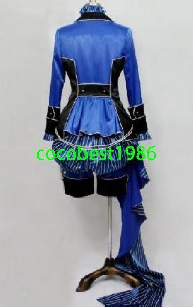 Kuroshitsuji Ciel Phantomhive Halloween Blue Cosplay Costume custom made