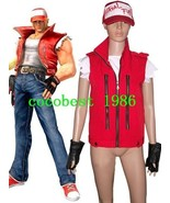 The King Of Fighters Terry Bogard Cosplay Costume Coat Underwear Hat Gloves - $48.79