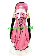 Black Butler Red Cosplay Costume Body Skirt Crinoline Hat Gloves Any size - $70.00