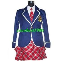 Black Butler Cosplay Costume 44 Jacket Skirt Tie Shirt School uniforms Any size - $54.85