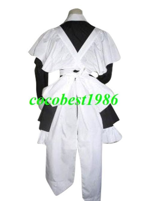 Chobits  Brand New Yuzuki Maid Cosplay Costume any size Body Skirt Bowknot Apron