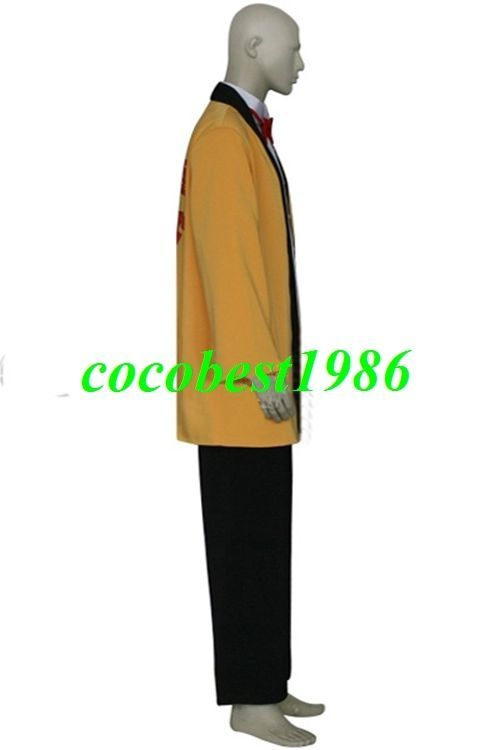 Hideki Yellow Suit Cosplay Costume from Chobits any size Shirt Suit Pants Tie
