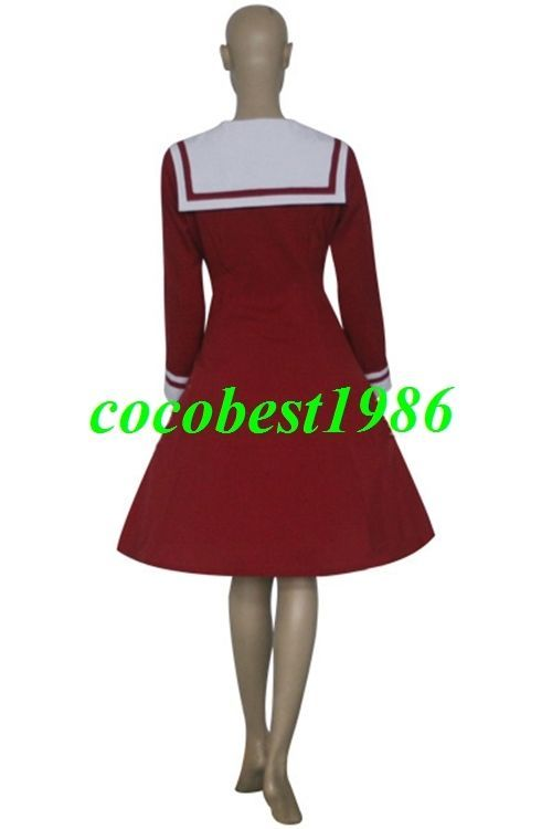 Red and White Chii Dress Cosplay Costume from Chobits any size