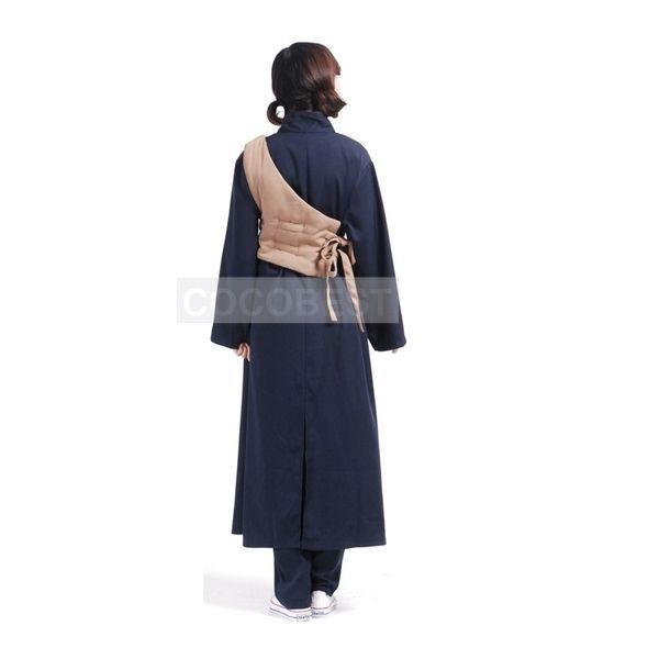 Naruto Shippuden Gaara Halloween Cosplay Costume Vest Trousers coat black long