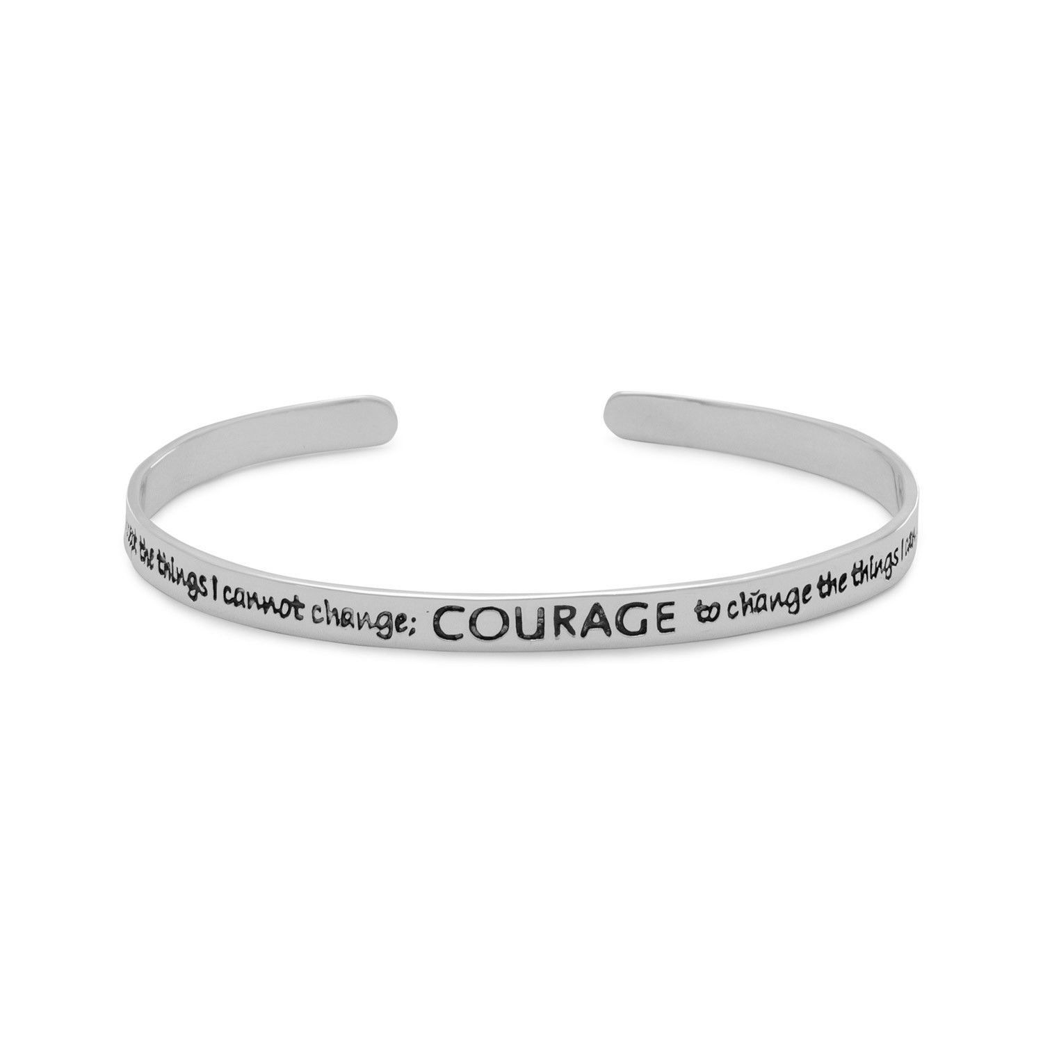 Primary image for Women's Sterling Silver Oxidized Serenity Prayer Cuff Bracelet
