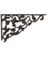 Wall Shelf Bracket Decorative Cast Iron Brace Hummingbird Vine Pattern 1... - $17.99