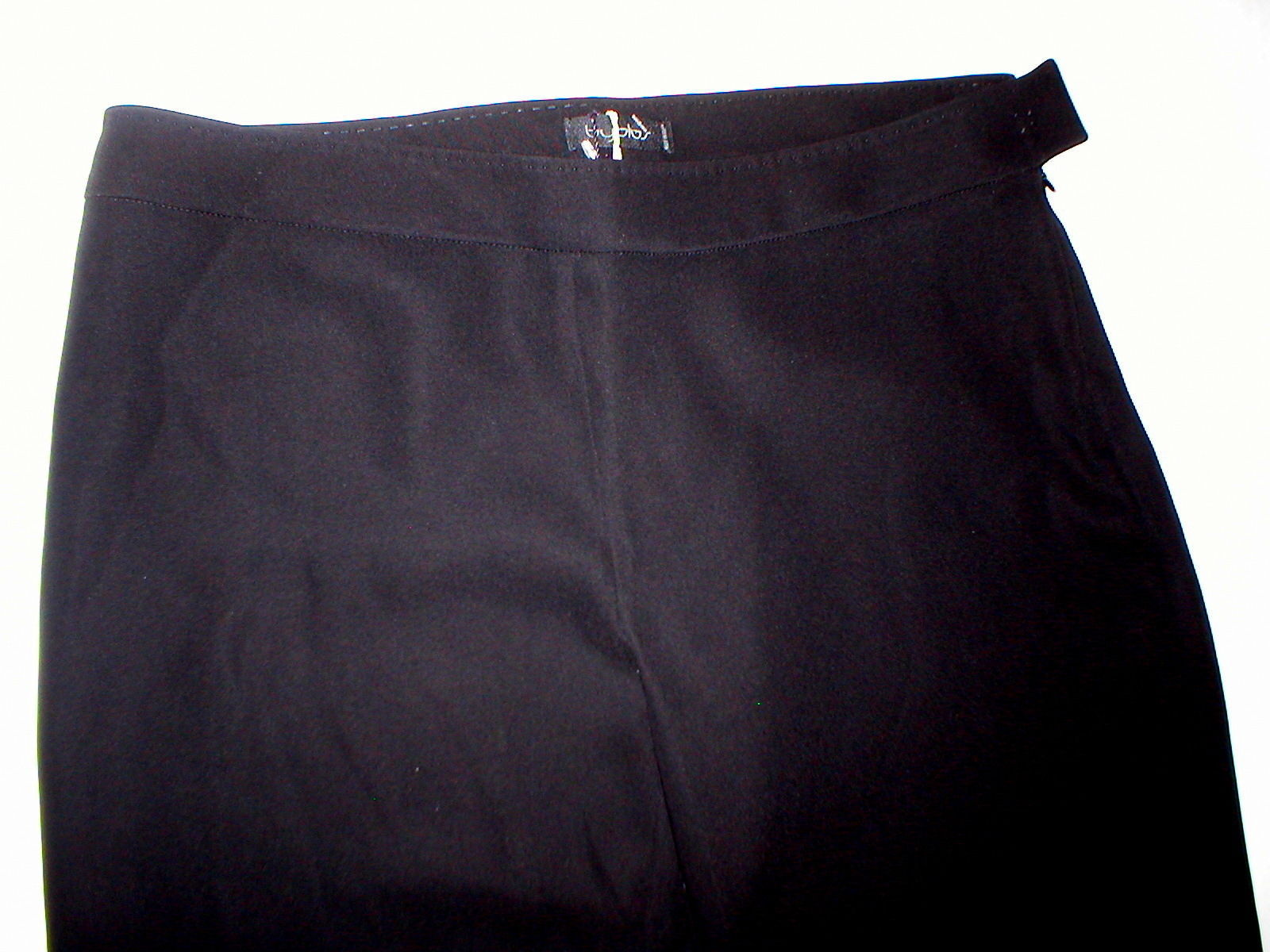 Womens Designer Italy Byblos Black Cuffed Trouser Pants 44 8 10 Genny Moda Tall