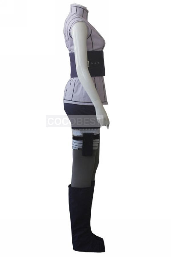Naruto the Movie Hinata Hyuga Cosplay Halloween costume Black Ninja shoes kunai