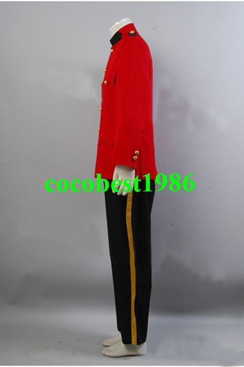 Due South Red Mountie Serge Uniform Tunic Costume any size Jacket Pants