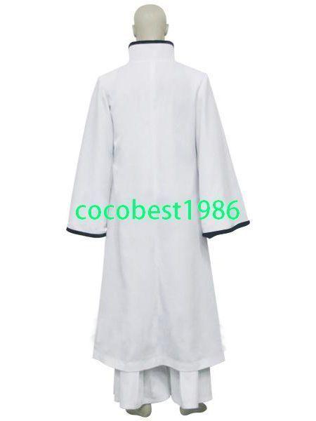Bleach Ichimaru Gin Arrancar Halloween Cosplay Costume Sash Overcoat Underwear