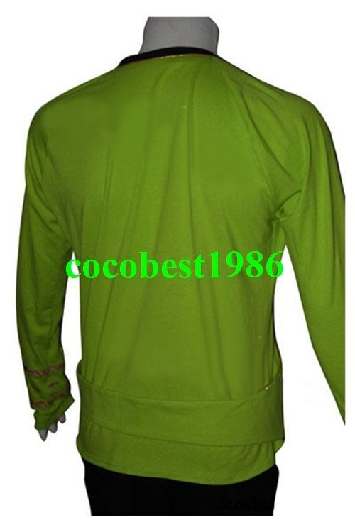 Star Trek TOS Green Wrap Command Costume Uniform any size