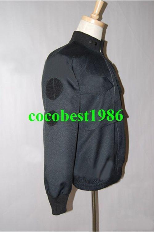 Stargate SG1 Black Uniform Jacket Costume any size coat