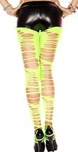 Green (neon) Large Ripped Pantyhose - $23.73
