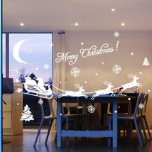 Christmas Decoration Christmas Glass Wall Stickers Window Stickers Enfei... - $7.00