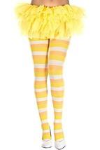 Yellow and Orange Candy Corn Stripes Pantyhose - $23.73