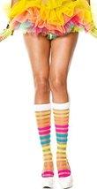 Rainbow Sheer Striped Short Leggings - $20.76