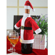 Hot Christmas Decoration For Home Red Wine Bottle Santa Claus Covers Clo... - ₨584.19 INR
