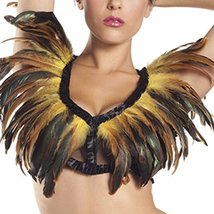 Yellow Long Feathers Mesh Top - $67.30