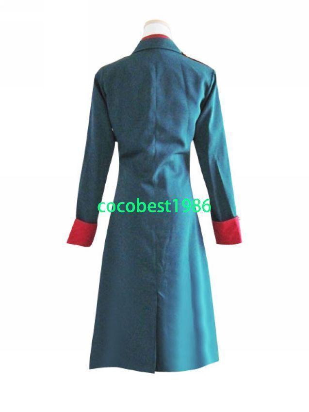 Hetalia Axis Powers Denmark Cosplay Costume any size Overcoat Trousers Tie Shirt