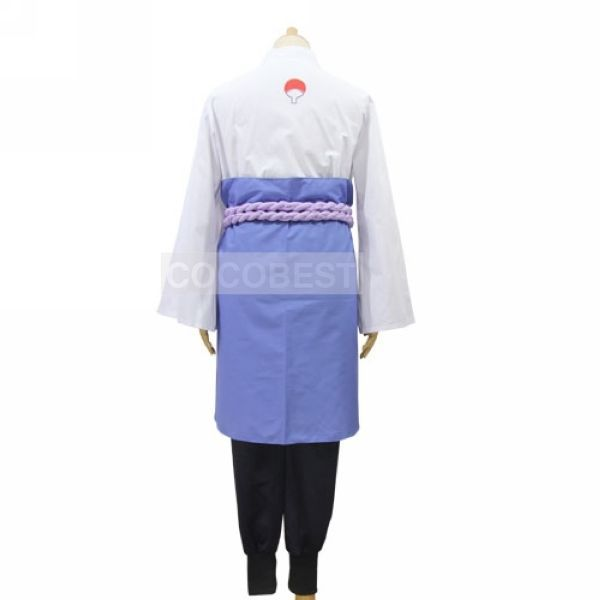 Naruto Uchiha Sasuke Halloween Cosplay Costume coatshirt sash trousers apron