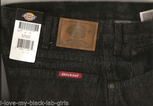 Primary image for Mens Pants Dickies Denim Jeans ~BLACK~ Size 32 X 32 NWT ~Regular Fit ~