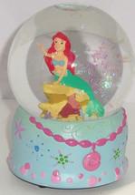 Disney Little Mermaid Ariel Snowglobe Christmas Musical Deck the Halls  - $79.95